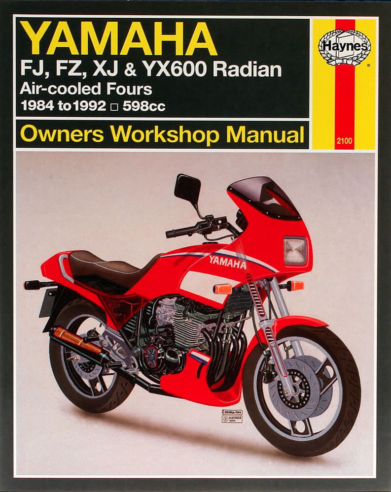 HAYNES MANUAL: YAMAHA FJ600, FZ600, XJ600, YX600 RADIAN 84-92