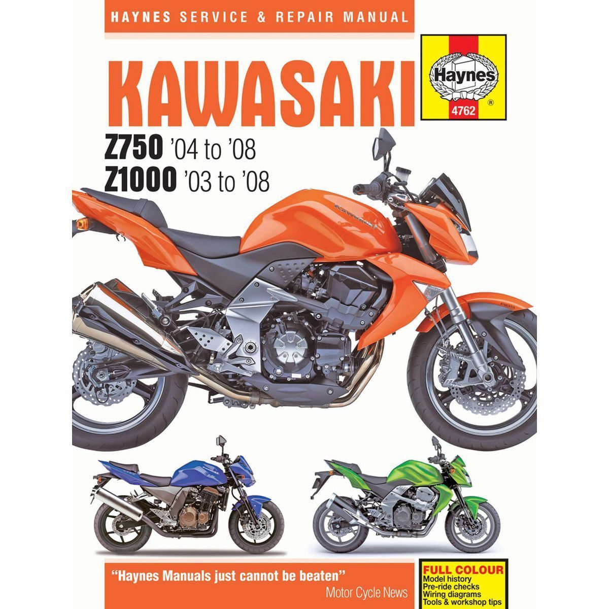 HAYNES MANUAL: KAWASAKI Z750 ZR750 Z1000 ZR1000 2003-2008