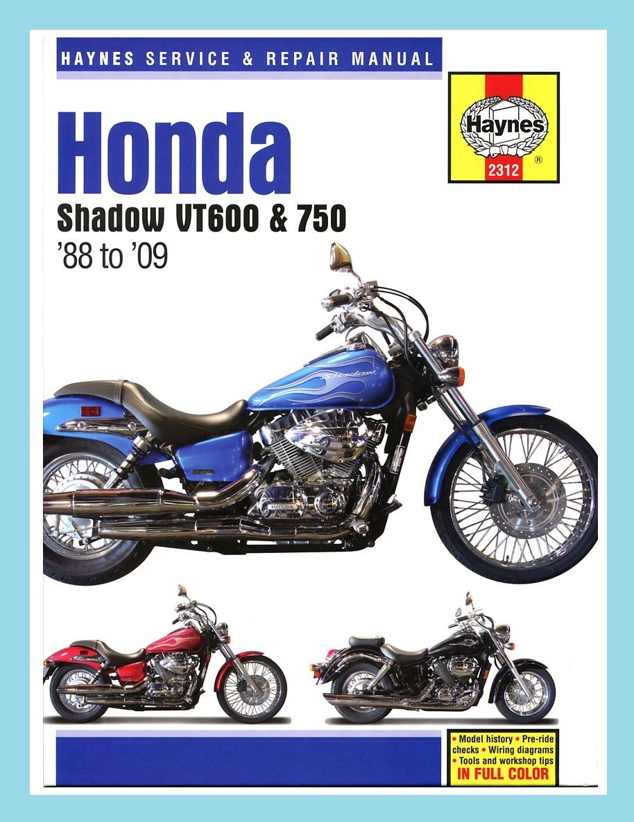 Haynes Manual Honda Vt Vt600 Vt750 Shadow 1988 Wiring Diagram Nkr 46500